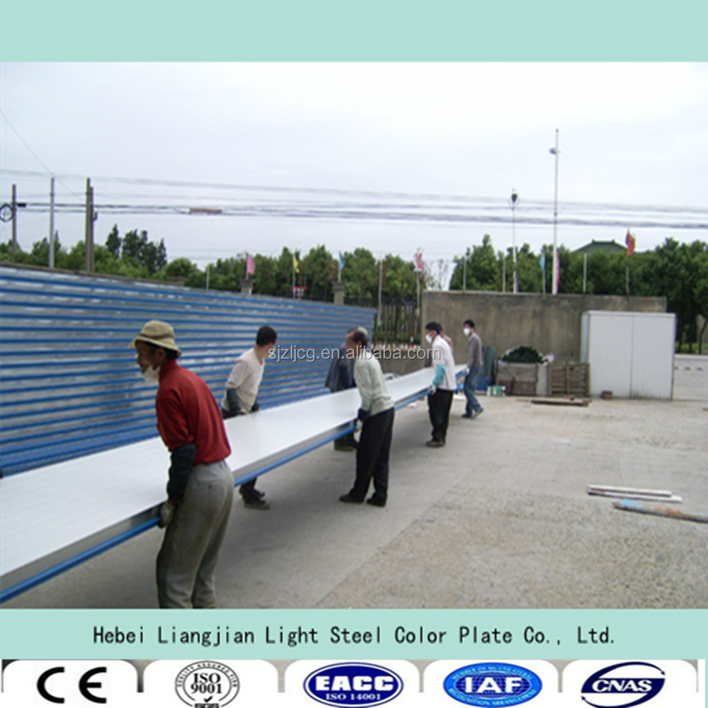 ISO9001:2008 eps sandwich panel for wall and roof