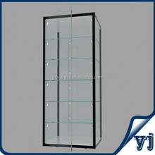 Hot Sale Jewelry Aluminium Storage cabinets Counter/Wall Mounted Glass Display Cases