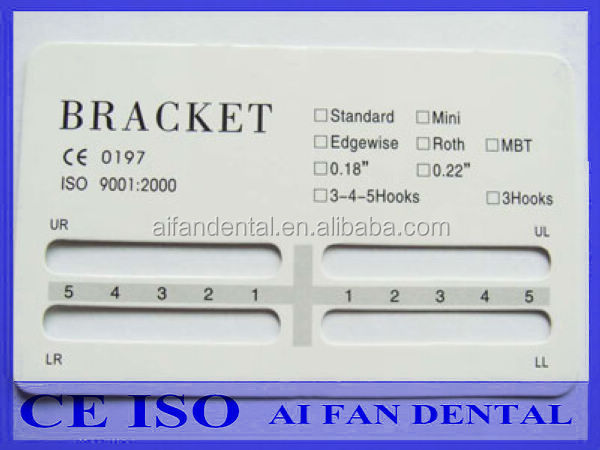 [ AiFan Dental ] Orthodontic material Monoblock mini roth dental metal brackets