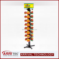 Food Display Nature Sweet Vertical Spinner Floor Standing Rack