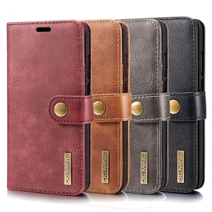 Wholesale Crazy Horse Texture Flip Detachable Magnetic Leather Case for Huawei P20 with Holder & Card Slots & Wallet