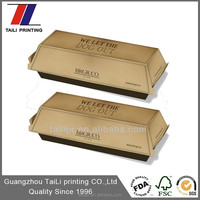 Customized packaging recycled hot dog paper box