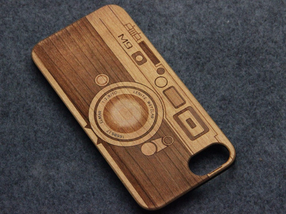 for iphone 7 wooden phone case with pc, wooden bamboo phone case laser custom logo