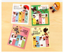 Nice cartoon design printed Fridge magnetic notepad/memo pad/shopping list with marked pen