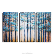 Acrylic Canvas Modern Tree Abstract Birch Oil Painting