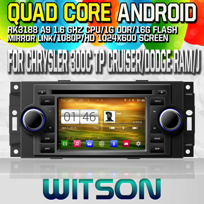 Witson S160 Android 4.4 Car DVD GPS For CHRYSLER 300C TP Cruiser DODGE Ram Compas with Quad Core Rockchip 3188 1080P 16g ROM