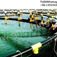 Round Floating Tilapia Aquaculture Net Cage