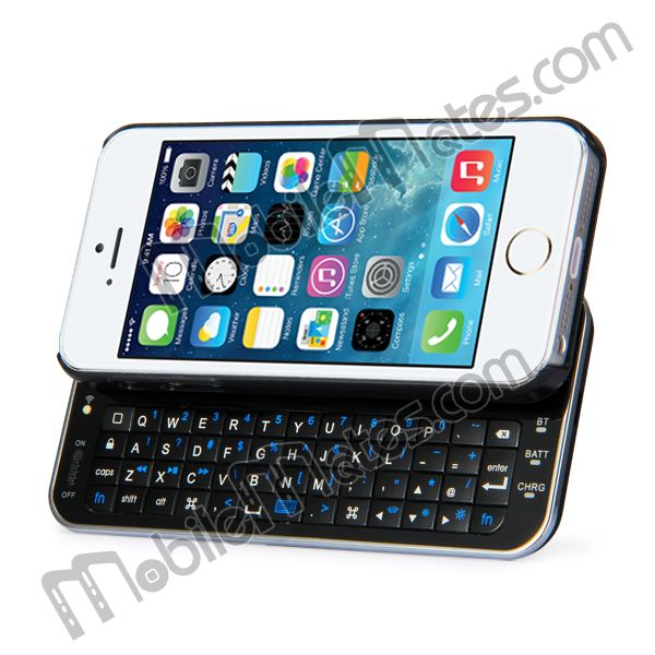 Ultra-thin Slide-out Backlight Wireless Bluetooth Keyboard Case for iPhone5S iPhone5