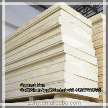 Polyurethane heat insulation panel with different surface material