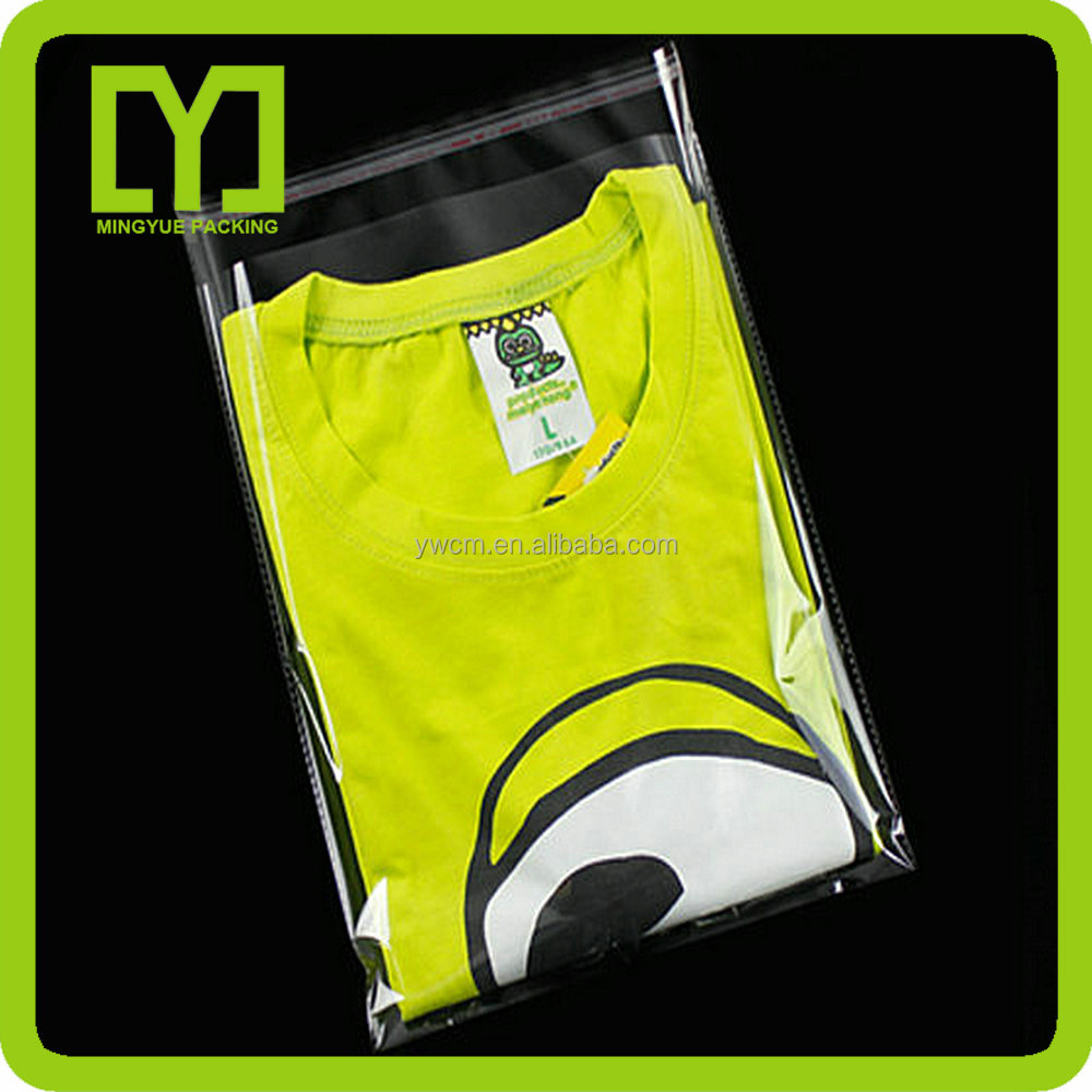 Taobao wholesale discount opp packing transparent Plastic bag for t-shirt