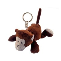 high quality monkey keychain , custom keychain plush monkey