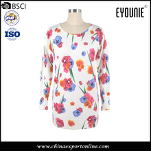 Women's Latest Spring Flower Print Tight-fitting Knitwear Sweater
