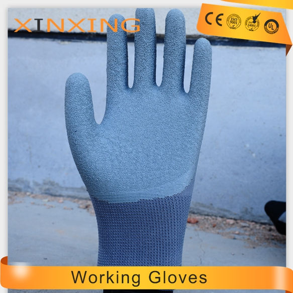 13G polyester 3/4 latex coated gloves Natural Latex Hand job Gloves / Latex Gloves / Latex Coated Glove of ppe