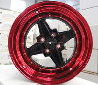 "15x8/15x9"" VIA racing aluminum wheel rim/ car alloy wheel 4X100MM"