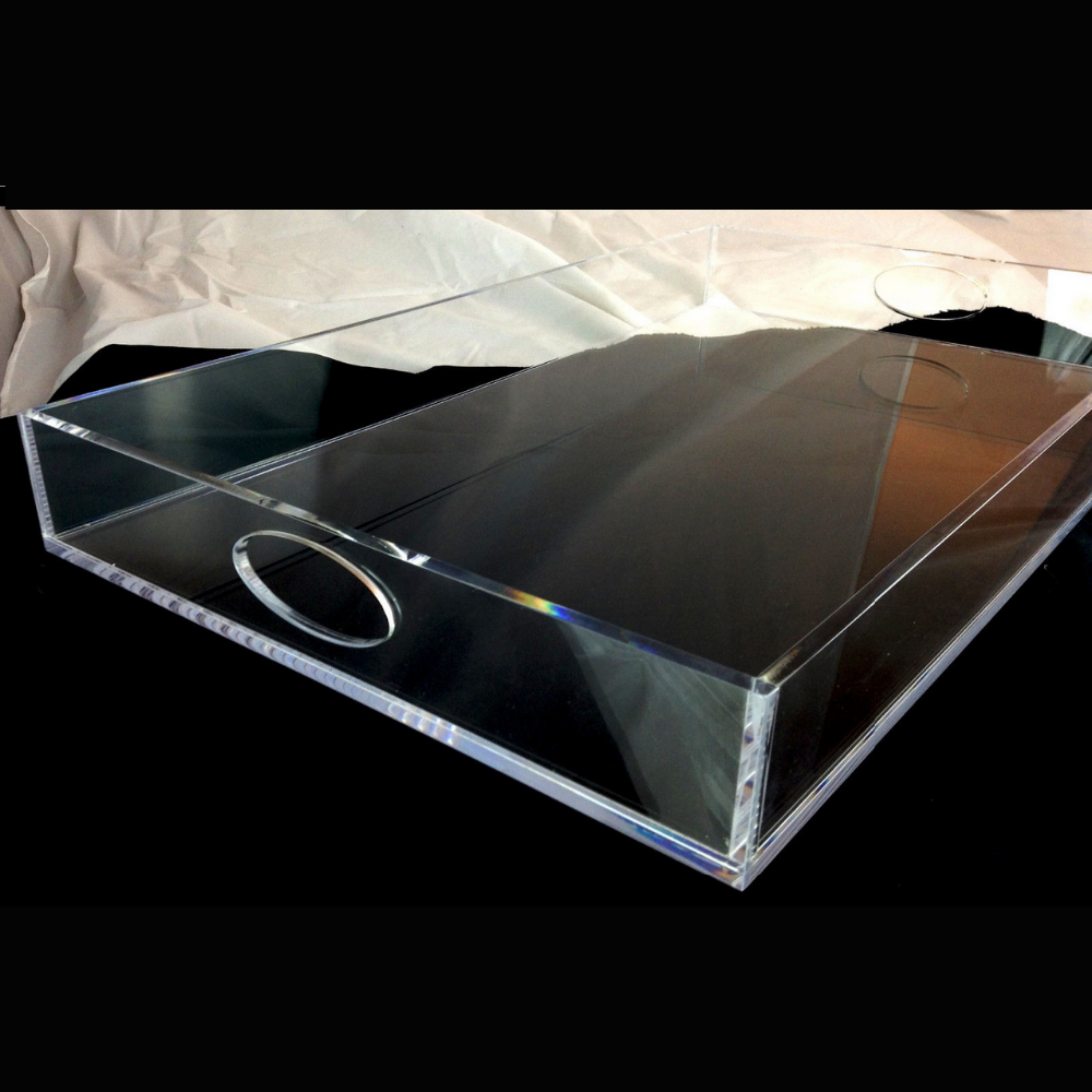 2015 acrylic clear serving trays wholesale