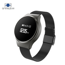 Stainless Steel Smart Wristband Health Fitness Activity Tracker heart Rate Business watch band