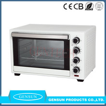 CB CE SAA ROHS ETL approval 60L double glass toaster oven electric glass oven