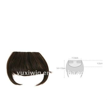 Clip-In Chinese Human Remy Hair Fringe Bangs Hair Wig