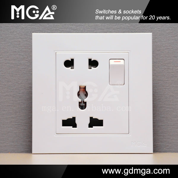 MGA european socket and switch&universal wall socket