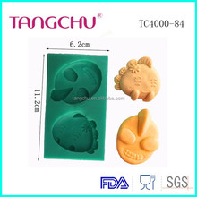 Cartoon Figure Shape Silicone Mold For Cake Decoration TC4000-84 Candy Soap Mold