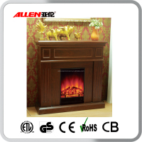 compact wood decor flame electric fireplaces with mantel
