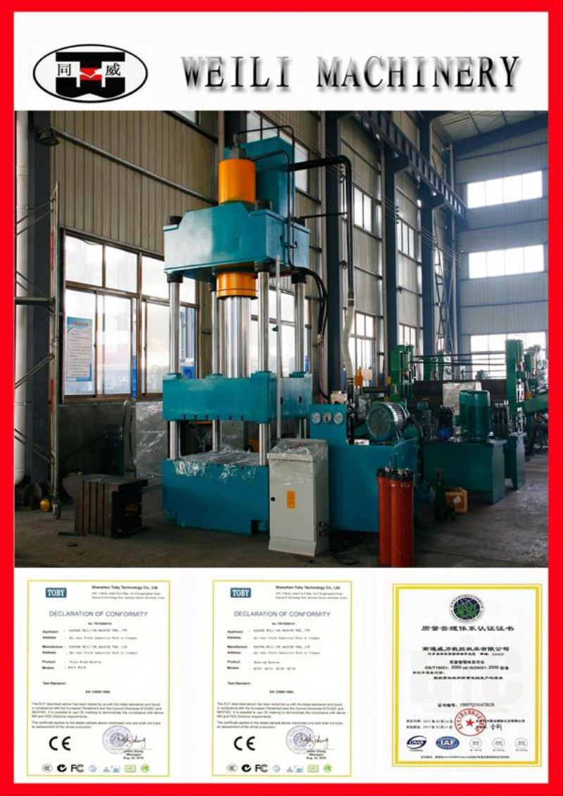 WEILI MACHINERY Top Quality Four Column klt brand 63 ton c frame hydraulic press