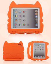 Children's Cartoon Cat Face EVA Soft Silicone Protective Case Full Edge Protective Kids Case For Ipad 2/3/4
