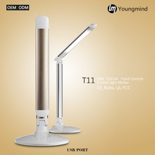 2017 Super bright touch control dimmable led desk lamp touch usb table light outlet