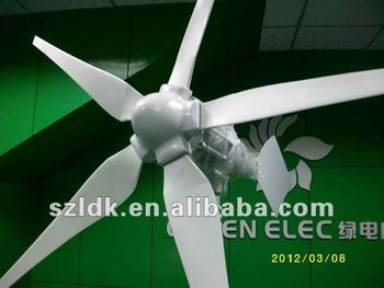 Low carbon 800w wind turbine for house use