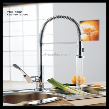 YSX-7002 Pull out brass kitchen water faucet