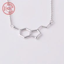 sterling silver Molecular geometry necklace silver chain necklace