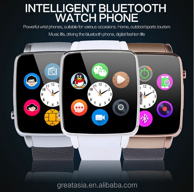 New Arrival Top Smart Watch X6 Smartwatch Support SIM Card Bluetooth WAP GPRS SMS MP3 MP4 USB For iPhone And Android
