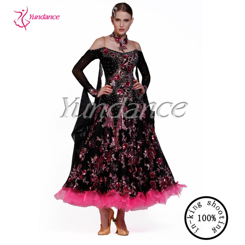 B-13153 Black And Red Sequin Plus Size Ballroom Dance ...
