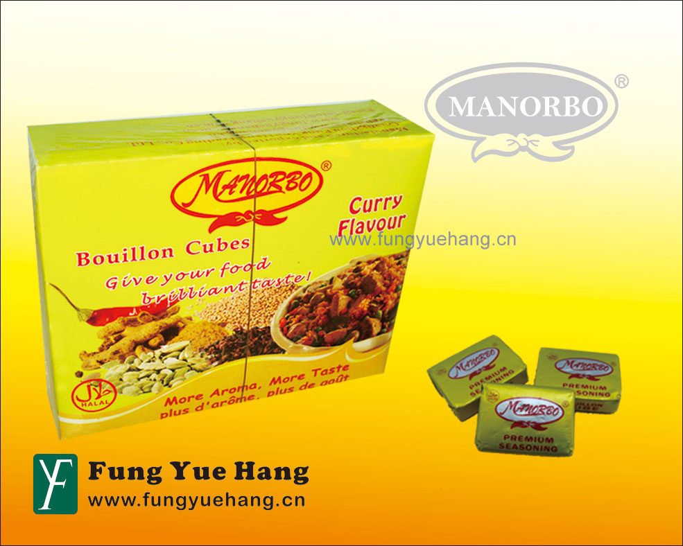 10g Seasoning Cube Curry Flavor Bouillon Cube