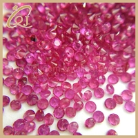 Good Quality Natural Ruby Round Shape 1.0mm loose natural ruby gemstone from china factory