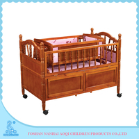 638 Plywood High Grade Portable Baby Cot Dimensions With Cradle