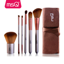 MSQ 6pcs nylon hair brush set cheap makeup kit discount cosmetic brush