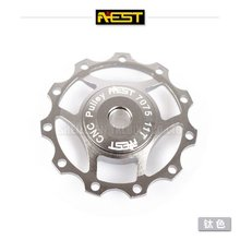 bearing bike pully/mtb alloy AL7075 jockey wheel/bicycle jockey wheel