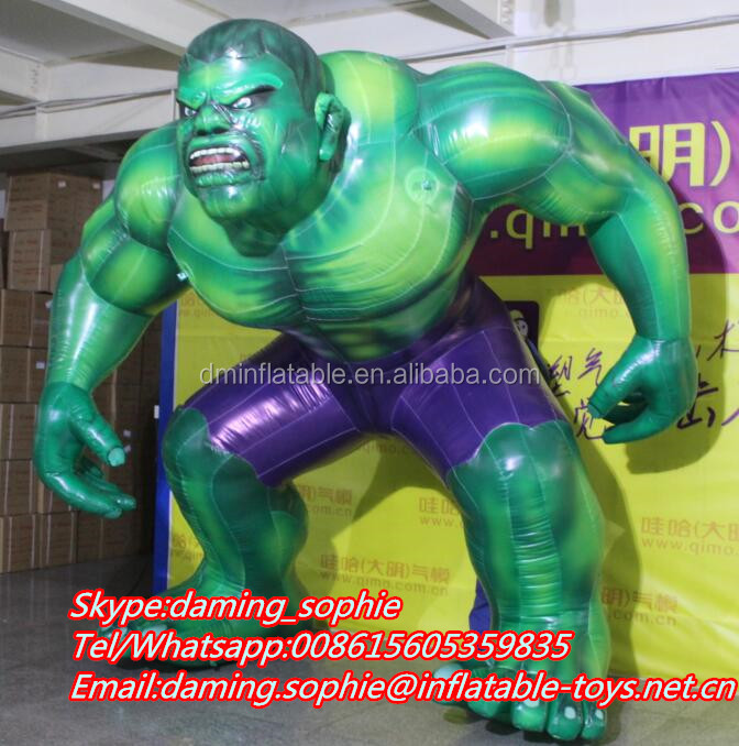 Promotional Inflatable 3m Green Muscle Man with Airblowing