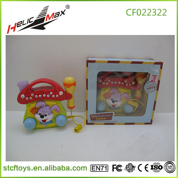 Baby music jukebox cd player toy+cd card Cute Little Mushroom Jukebox children music toys for kid