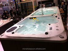 Monalisa 6.8 meter sexy dual zone hot tubs swim spa pool M-3373