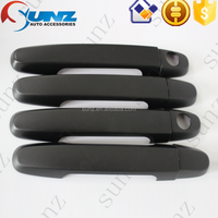 New Arrival pickup toyota hilux vigo 2007 black DOOR HANDLE COVER kits in Exterior Accessories