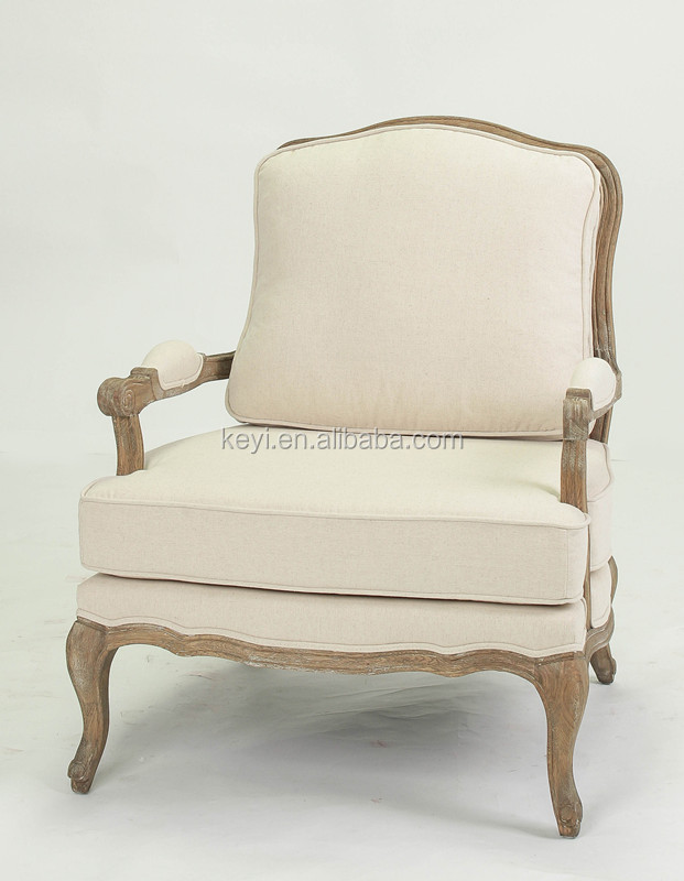 Antique Oak French style carved design wooden armchair/rattan back arm chair, Sofa