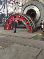 Large casting steel half gear for cement