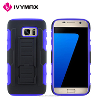 IVYMAX Future Armor Holster Kickstand Belt Clip Combo Cover Case For Samsung Galaxy S7 SM-G930F 32GB