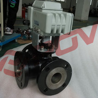 Carbon steel flanged electric water diverter valve