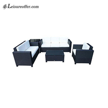 Polyester rattan sofa set used hotel broyhill outdoor furniture