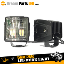 3inch high power square led headlight 30w led driving light 4x4 led motorcycle lights