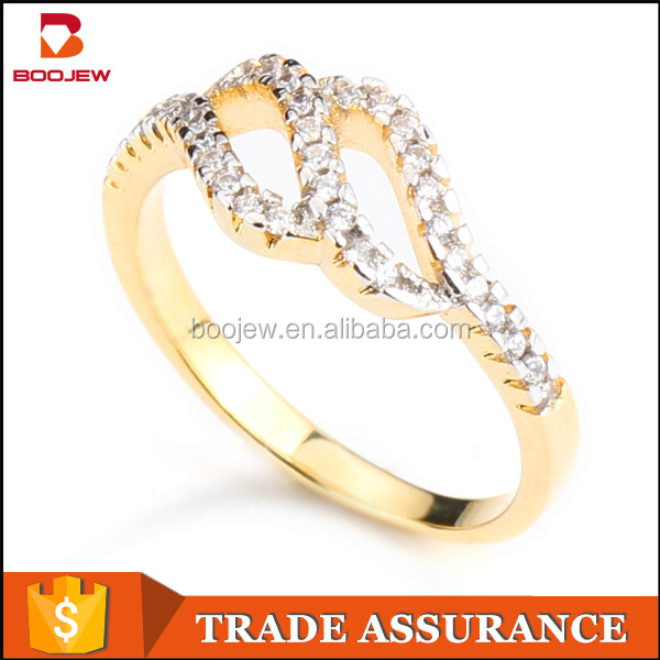 Hot selling micro pave 925 italian silver ring 18k gold plated rings latest simple designs for girls and ladies