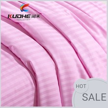 100% Cotton Bedding Sheets sateen stripe fabric for star hotel